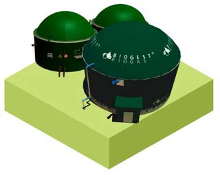 biogas power plant